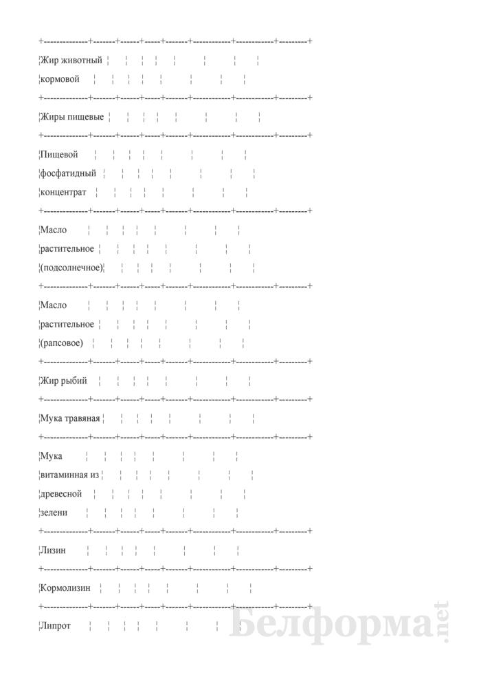 Сведения об остатках, поступлении и расходе незернового комбикормового сырья (Форма 3-СН (незерновое сырье) (ежемесячно)). Страница 4