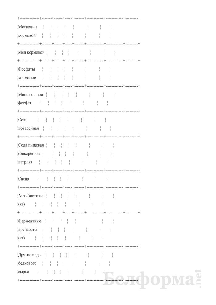 Сведения об остатках, поступлении и расходе незернового комбикормового сырья (Форма 3-СН (незерновое сырье) (ежемесячно)). Страница 5