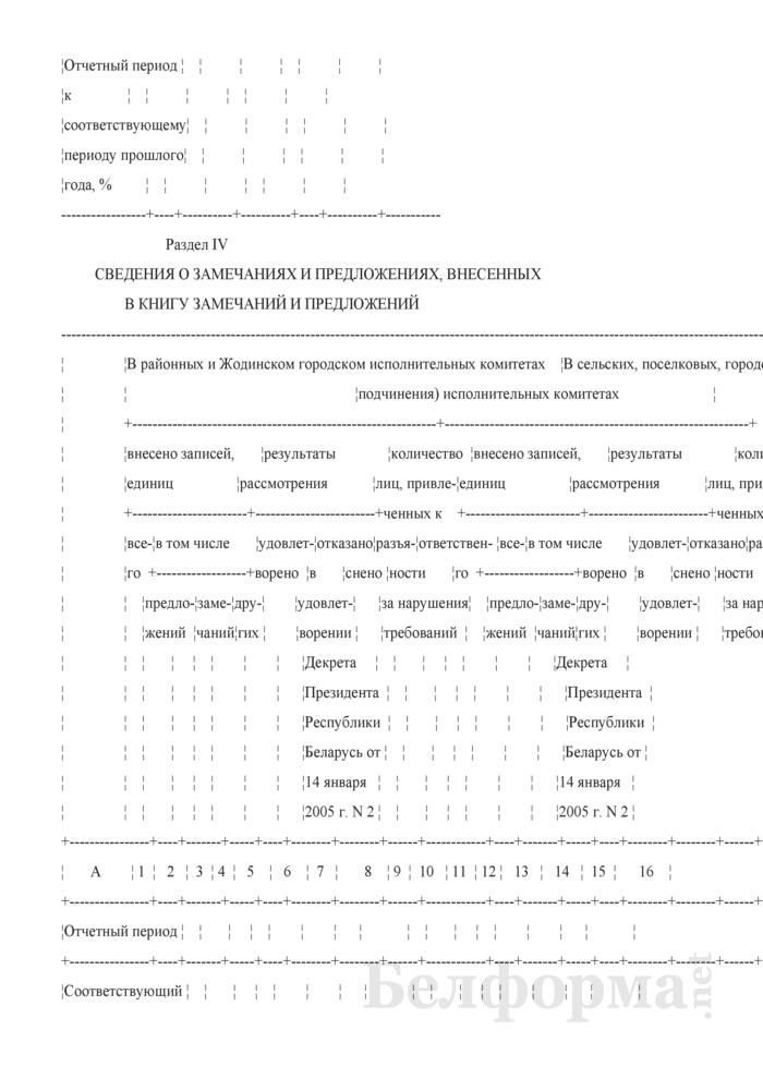 Отчет об обращениях граждан (утвержденный Миноблисполкомом). Страница 5