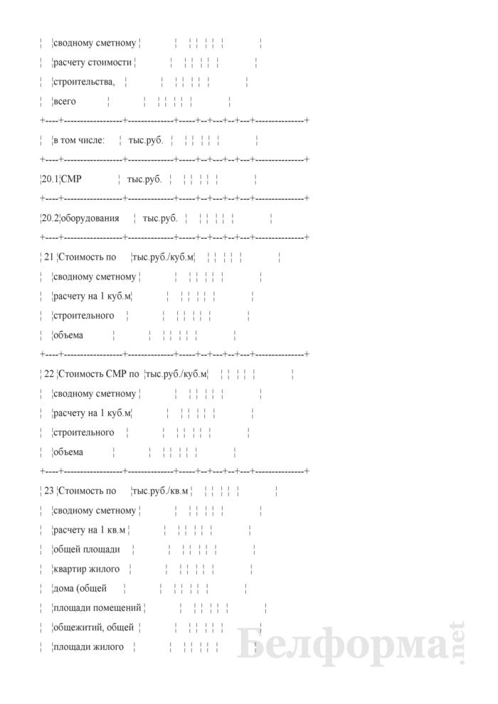"""Форма таблицы № 4 технико-экономических показателей по проектируемому объекту для жилых зданий (жилой части здания) на стадиях """"А"""" и """"АС"""". Страница 5"""