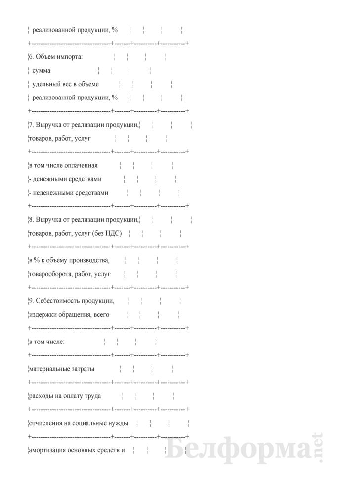 Основные финансово-экономические показатели (к бизнес-плану развития организации на год). Страница 2