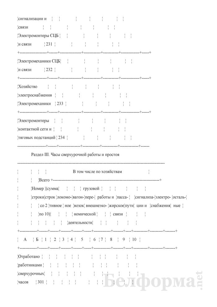 Отчет о численности работников и составе заработной платы (Форма № 1-Т (ЦТО-1) (месячная)). Страница 11