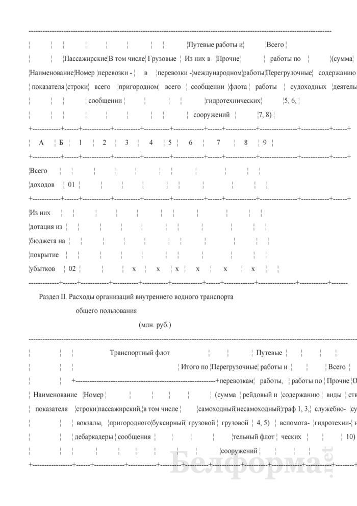 Отчет о доходах и расходах организаций внутреннего водного транспорта общего пользования. Страница 2