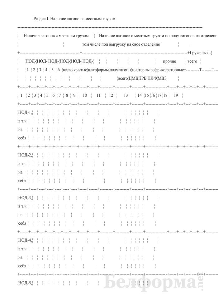 Отчет о наличии груженых вагонов (Форма № ДО-15 (суточная)). Страница 2