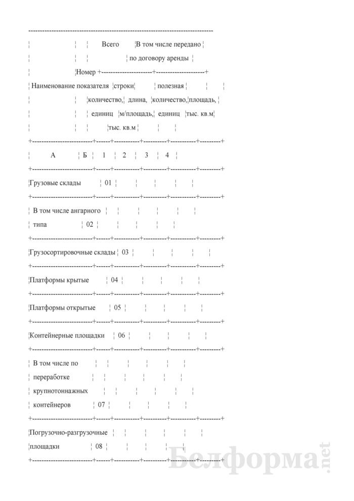 Отчет о наличии основных технических средств грузового хозяйства (Форма № АГО-6М (годовая)). Страница 2