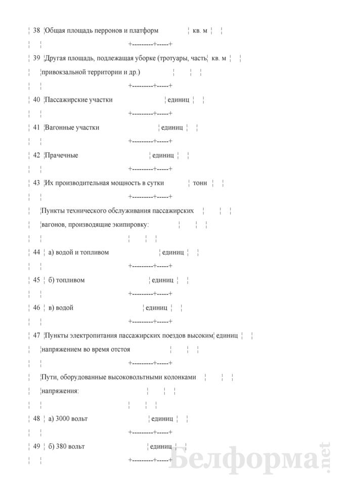 Отчет о наличии основных технических средств пассажирского хозяйства (Форма № АГО-6Л (годовая)). Страница 5