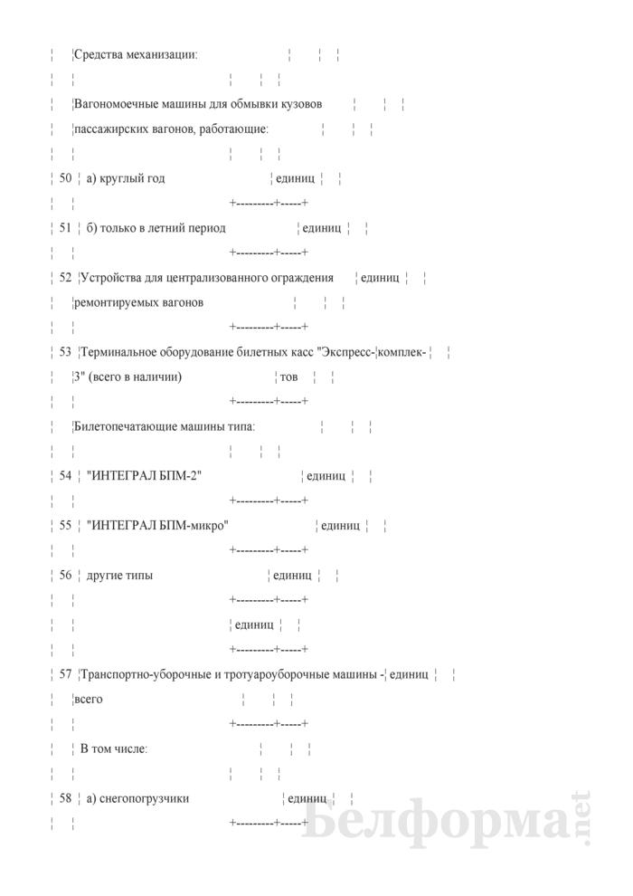 Отчет о наличии основных технических средств пассажирского хозяйства (Форма № АГО-6Л (годовая)). Страница 6