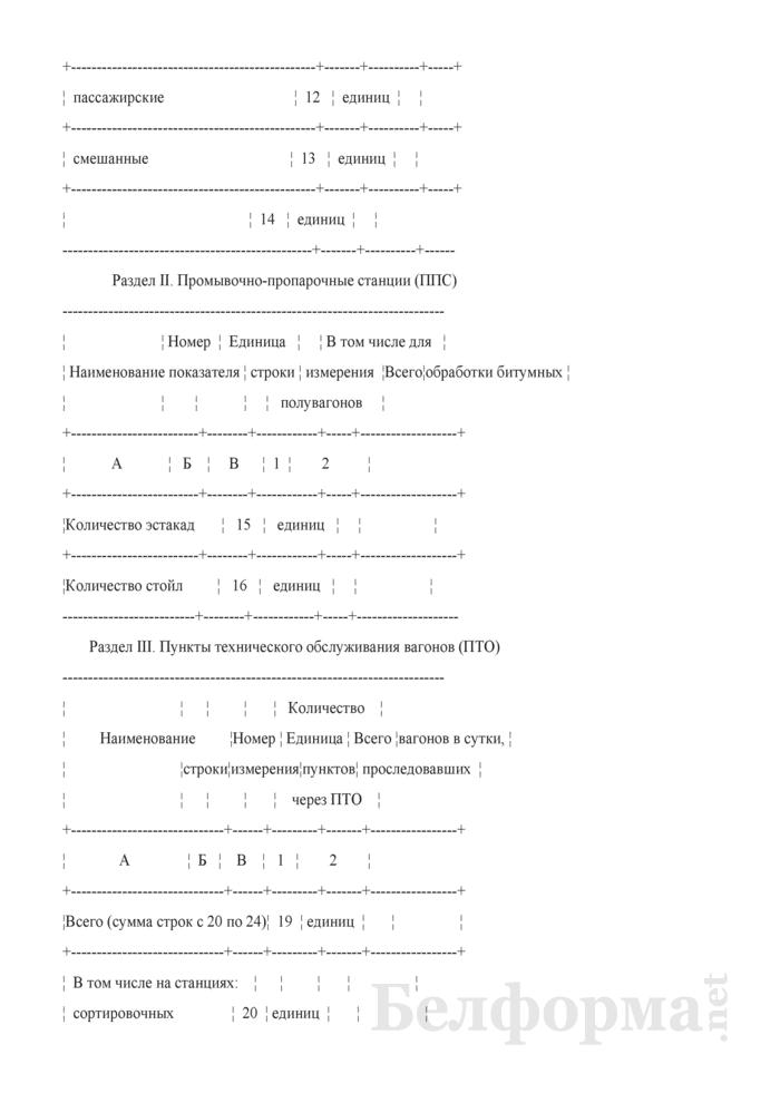 Отчет о наличии основных технических средств вагонного хозяйства (Форма № АГО-4 (годовая)). Страница 3