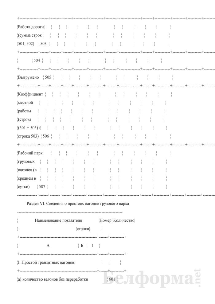 Отчет о наличии, распределении, работе и использовании подвижного состава (Форма № ЦО-1 (месячная)). Страница 14