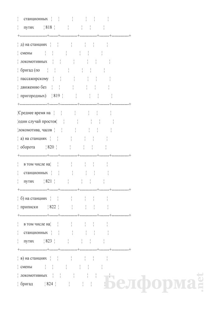 Отчет о наличии, распределении, работе и использовании подвижного состава (Форма № ЦО-1 (месячная)). Страница 22