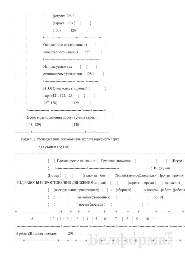 Отчет о наличии, распределении, работе и использовании подвижного состава (Форма № ЦО-1 (месячная)). Страница 5