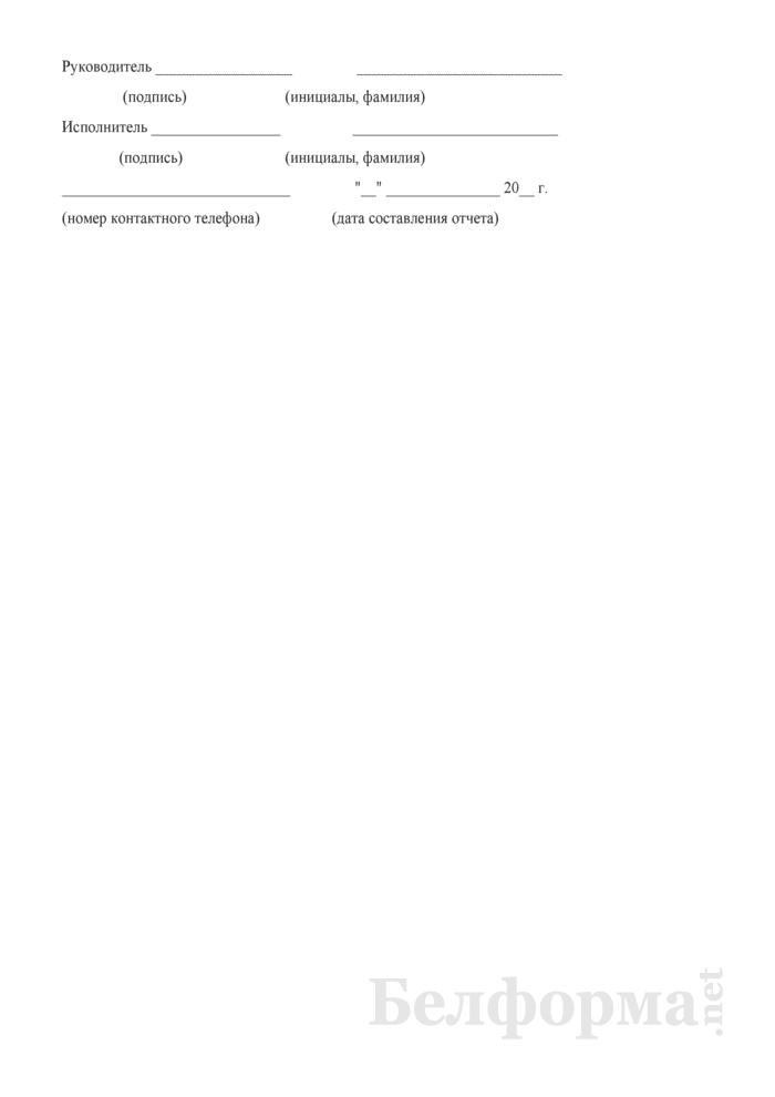 Отчет о перевозке грузов, их пробегах и полученном доходе от тарифных тонно-километров по Белорусской железной дороге (Форма № Ц0-12 (месячная)). Страница 8