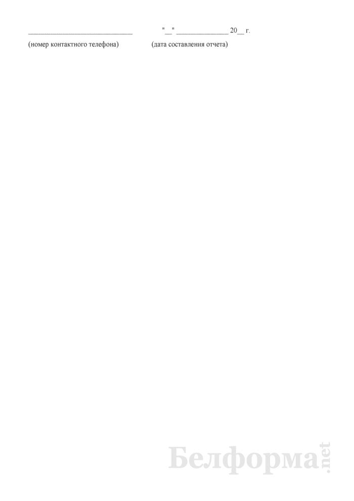 Отчет о перевозке грузов, их пробегах и полученном доходе от тарифных тонно-километров по отделениям Белорусской железной дороги (Форма № ЦО-12 (НОД) (месячная)). Страница 8
