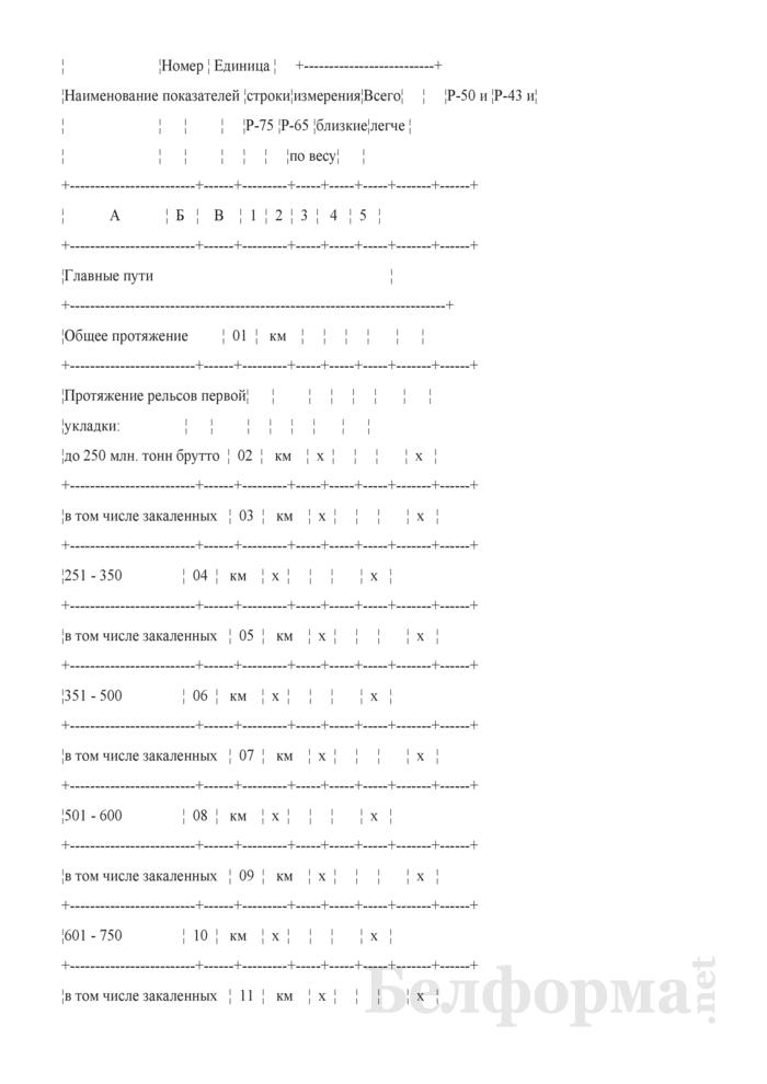 Отчет о путевом хозяйстве (железнодорожные пути общего пользования) (Форма № АГО-1 (годовая)). Страница 15