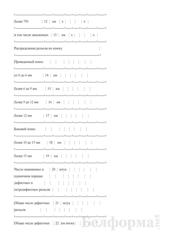 Отчет о путевом хозяйстве (железнодорожные пути общего пользования) (Форма № АГО-1 (годовая)). Страница 16