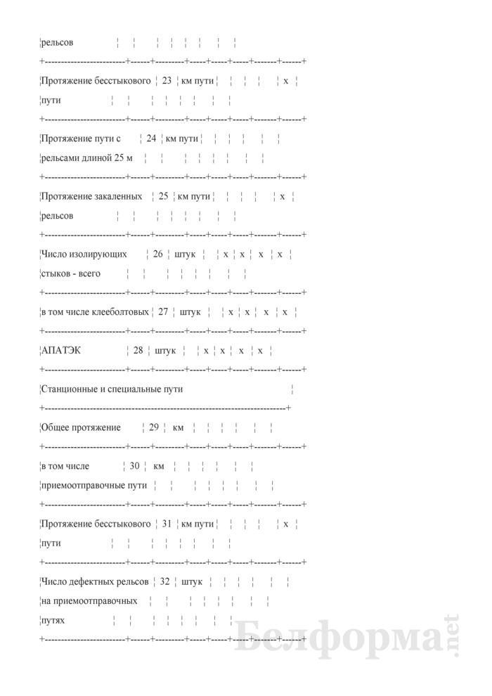 Отчет о путевом хозяйстве (железнодорожные пути общего пользования) (Форма № АГО-1 (годовая)). Страница 17