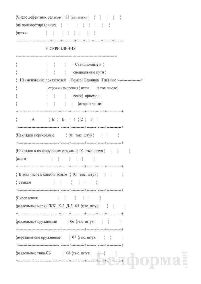 Отчет о путевом хозяйстве (железнодорожные пути общего пользования) (Форма № АГО-1 (годовая)). Страница 18
