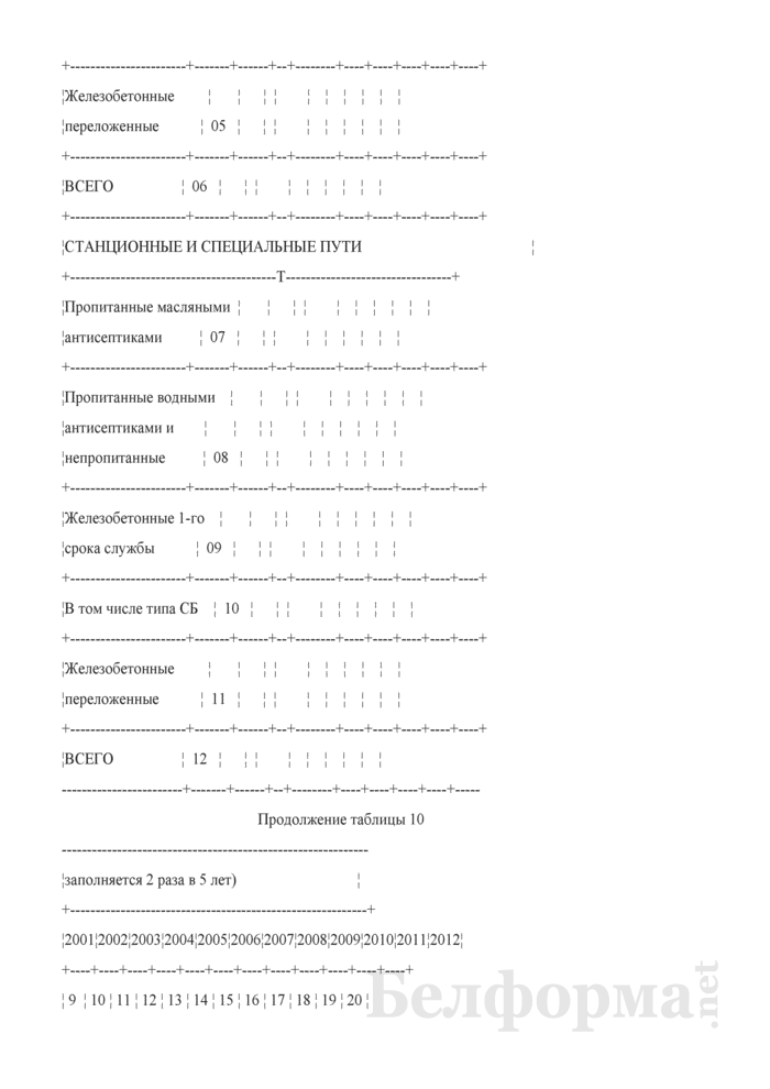 Отчет о путевом хозяйстве (железнодорожные пути общего пользования) (Форма № АГО-1 (годовая)). Страница 20