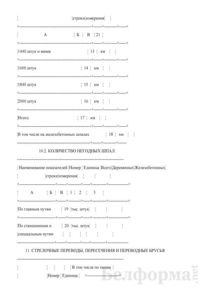 Отчет о путевом хозяйстве (железнодорожные пути общего пользования) (Форма № АГО-1 (годовая)). Страница 22