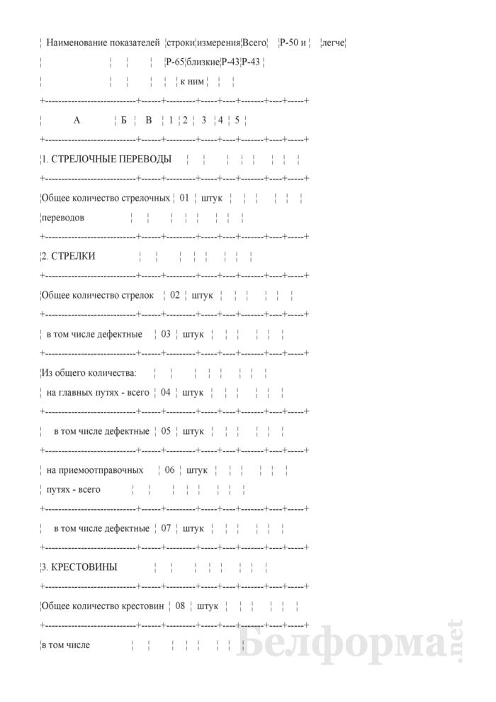 Отчет о путевом хозяйстве (железнодорожные пути общего пользования) (Форма № АГО-1 (годовая)). Страница 23