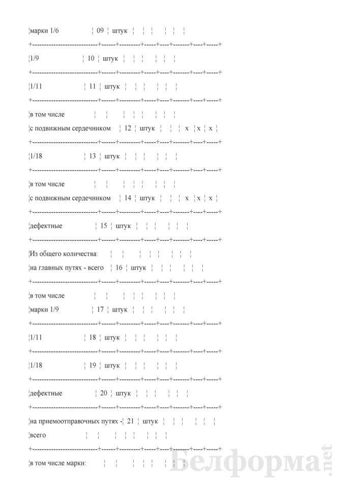 Отчет о путевом хозяйстве (железнодорожные пути общего пользования) (Форма № АГО-1 (годовая)). Страница 24