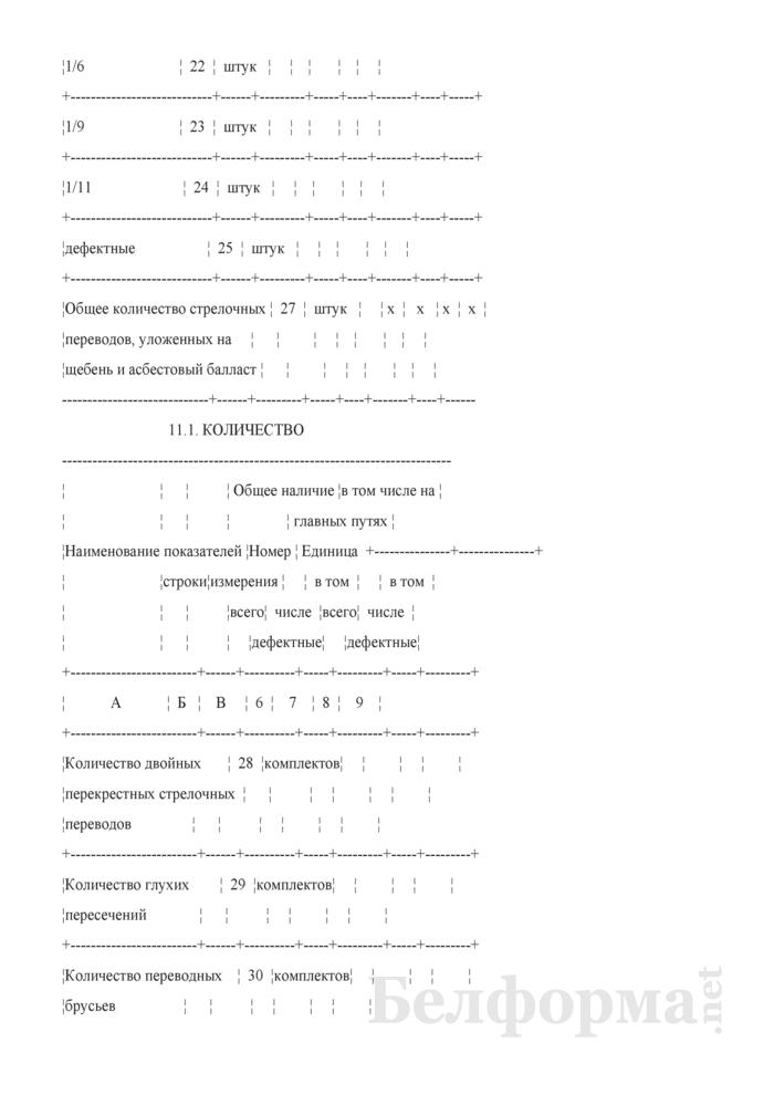 Отчет о путевом хозяйстве (железнодорожные пути общего пользования) (Форма № АГО-1 (годовая)). Страница 25