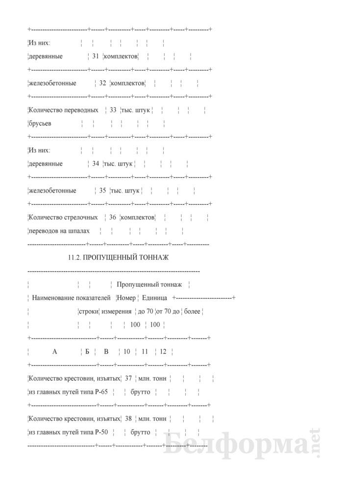 Отчет о путевом хозяйстве (железнодорожные пути общего пользования) (Форма № АГО-1 (годовая)). Страница 26