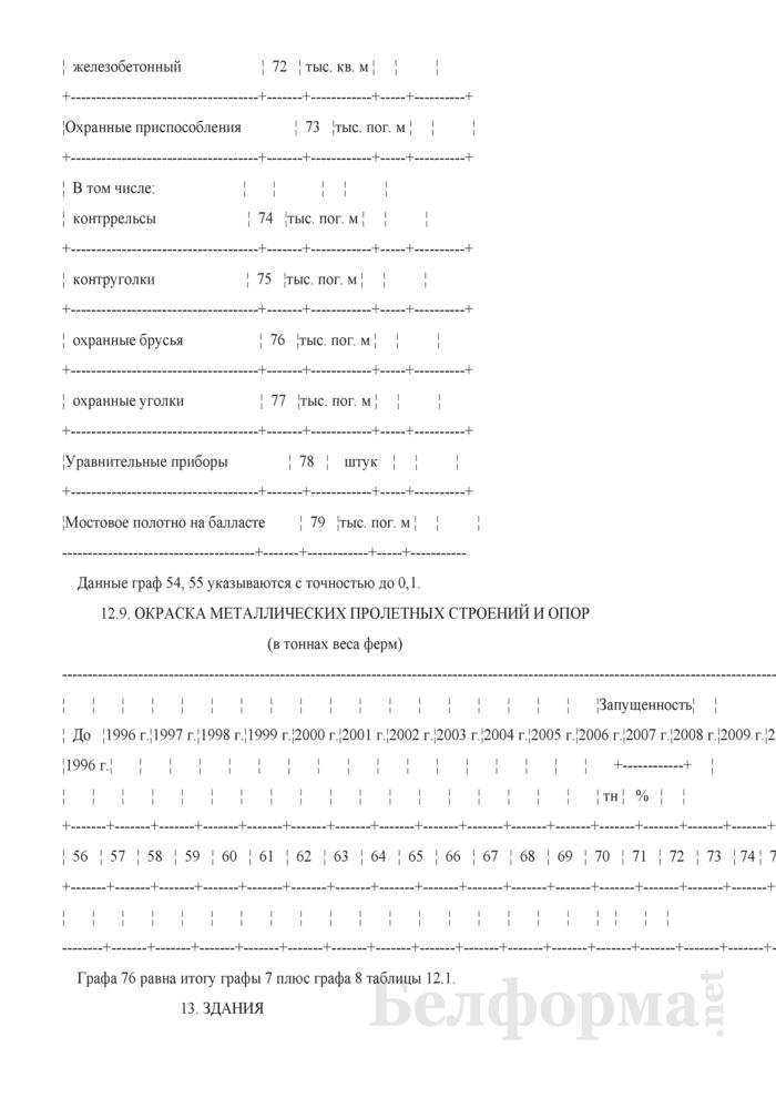 Отчет о путевом хозяйстве (железнодорожные пути общего пользования) (Форма № АГО-1 (годовая)). Страница 38
