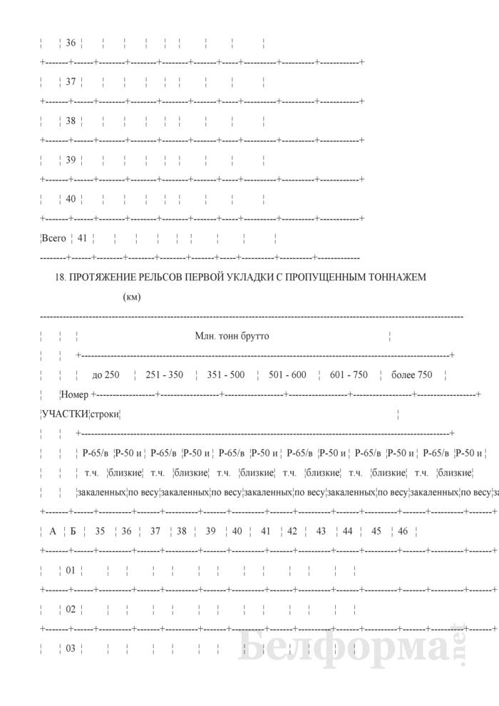Отчет о путевом хозяйстве (железнодорожные пути общего пользования) (Форма № АГО-1 (годовая)). Страница 52