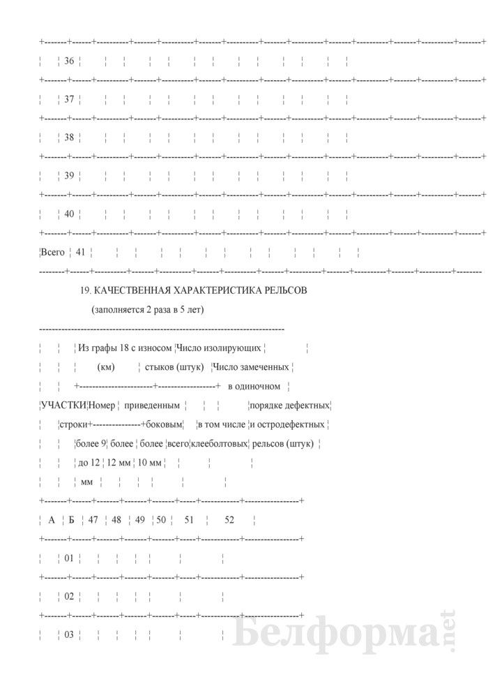 Отчет о путевом хозяйстве (железнодорожные пути общего пользования) (Форма № АГО-1 (годовая)). Страница 55
