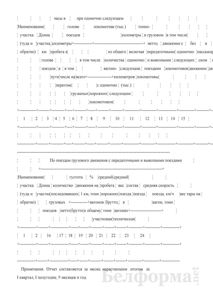 Отчет о работе и показателях использования подвижного состава (Форма № ЦО-4 (месячная)). Страница 11