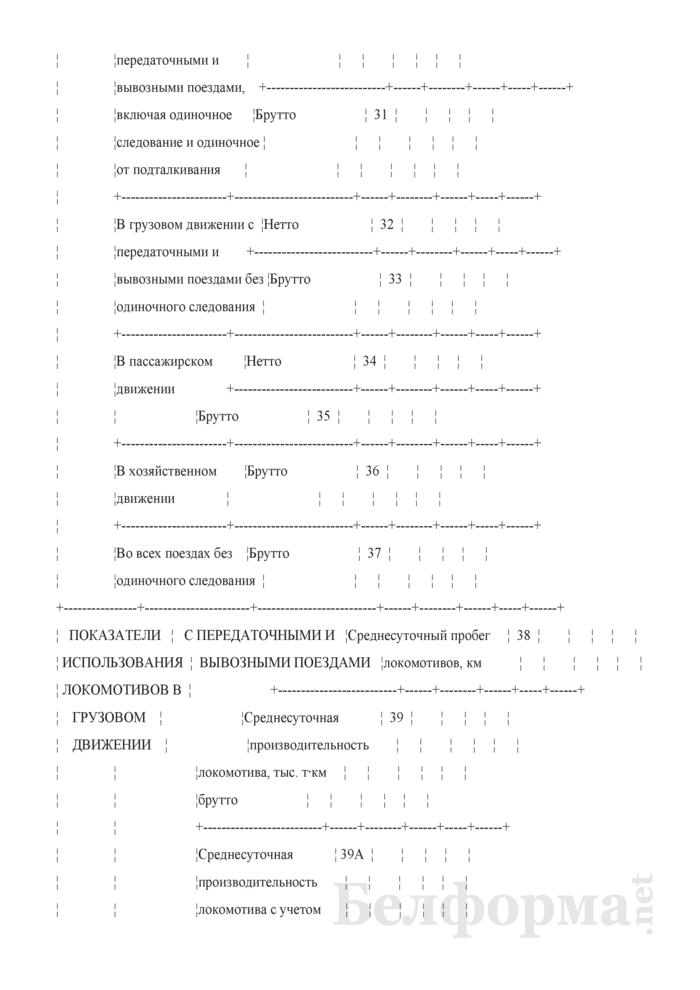 Отчет о работе и показателях использования подвижного состава (Форма № ЦО-4 (месячная)). Страница 5