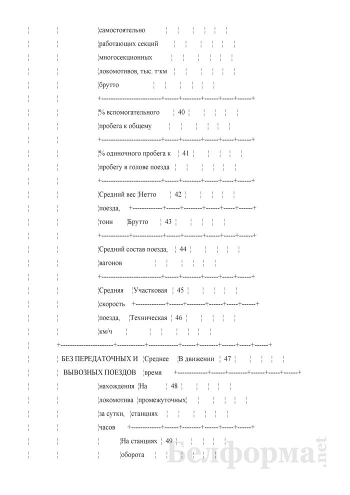 Отчет о работе и показателях использования подвижного состава (Форма № ЦО-4 (месячная)). Страница 6
