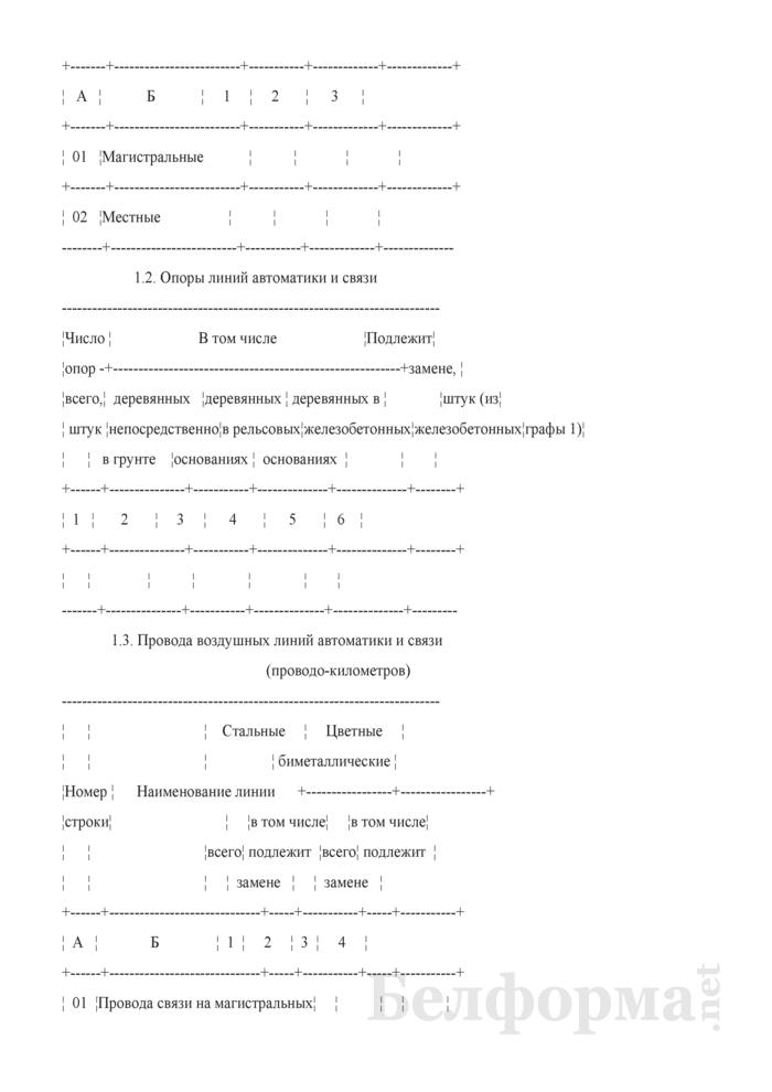 Отчет о технических средствах сигнализации и связи (Форма № АГО-5 (годовая)). Страница 2