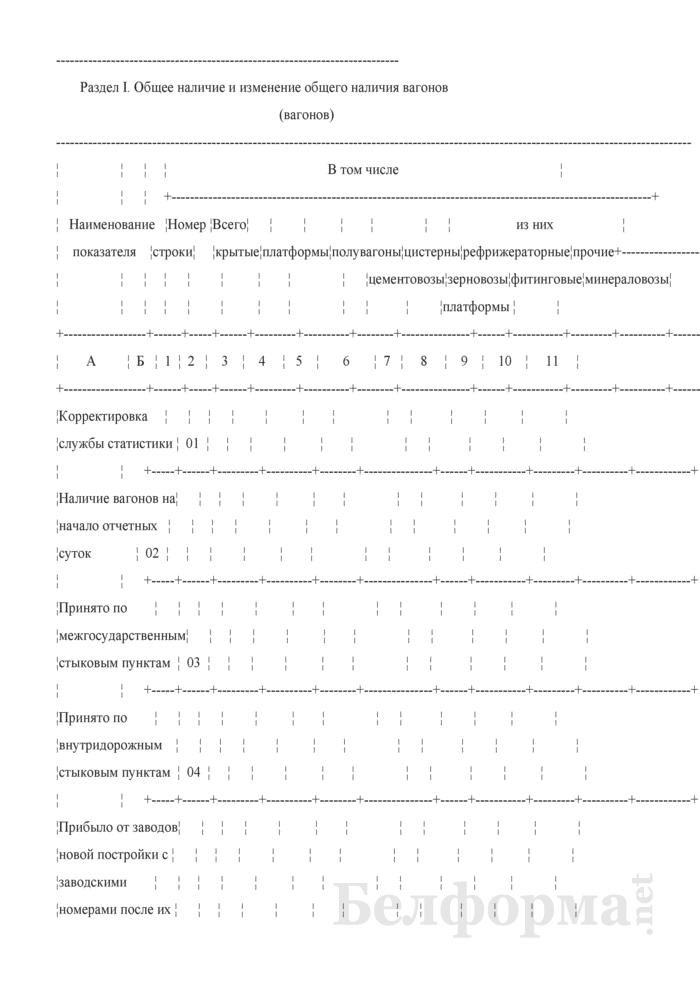 Отчет о вагонном парке (Форма № ДО-2 (суточная)). Страница 2