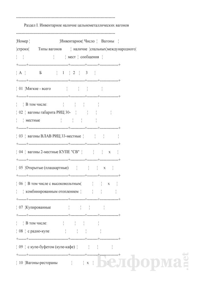 Отчет об инвентарном наличии и конструктивных устройствах пассажирских вагонов (Форма № АГО-16 (годовая)). Страница 2