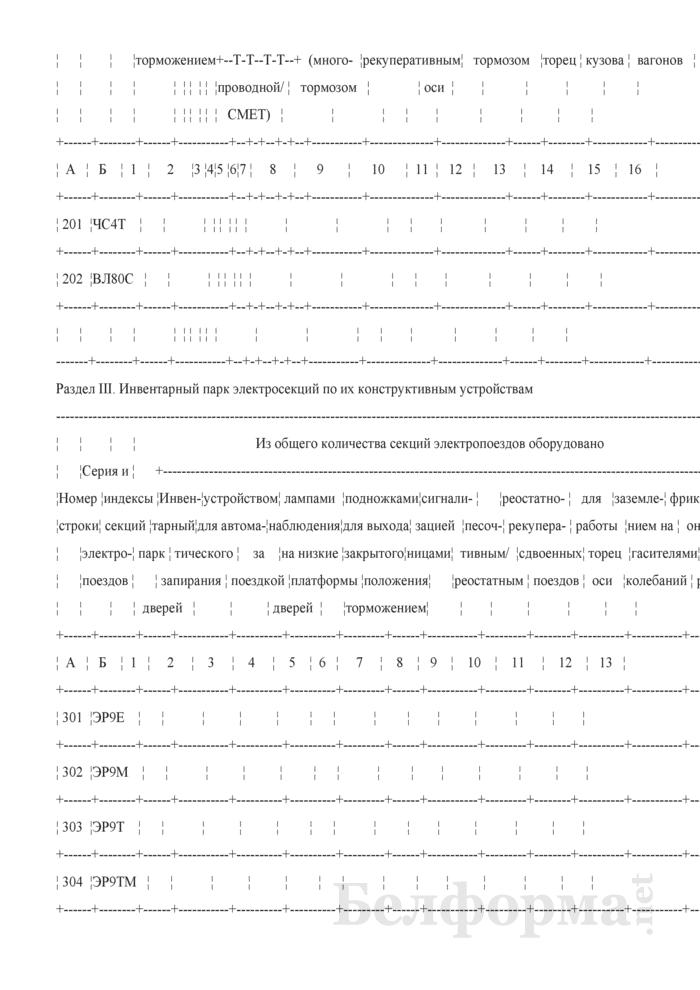 Отчет об инвентарном парке электровозов, тепловозов, паровозов, электропоездов, дизель-поездов и подъемных кранов (Форма № АГО-14 (годовая)). Страница 4