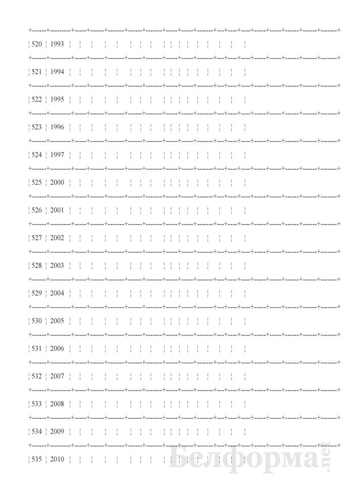 Отчет об инвентарном парке электровозов, тепловозов, паровозов, электропоездов, дизель-поездов и подъемных кранов (Форма № АГО-14 (годовая)). Страница 8