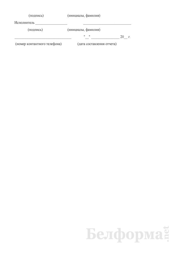 Отчет об исполнении предложений, заявлений и жалоб граждан (Форма № 1-письма (полугодовая)). Страница 6