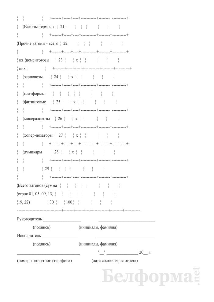 Отчет об использовании грузоподъемности вагонов при погрузке грузов и выполнении технических норм загрузки вагонов (Форма № ЦО-29 (месячная, по номенклатурным группам грузов - квартальная)). Страница 4