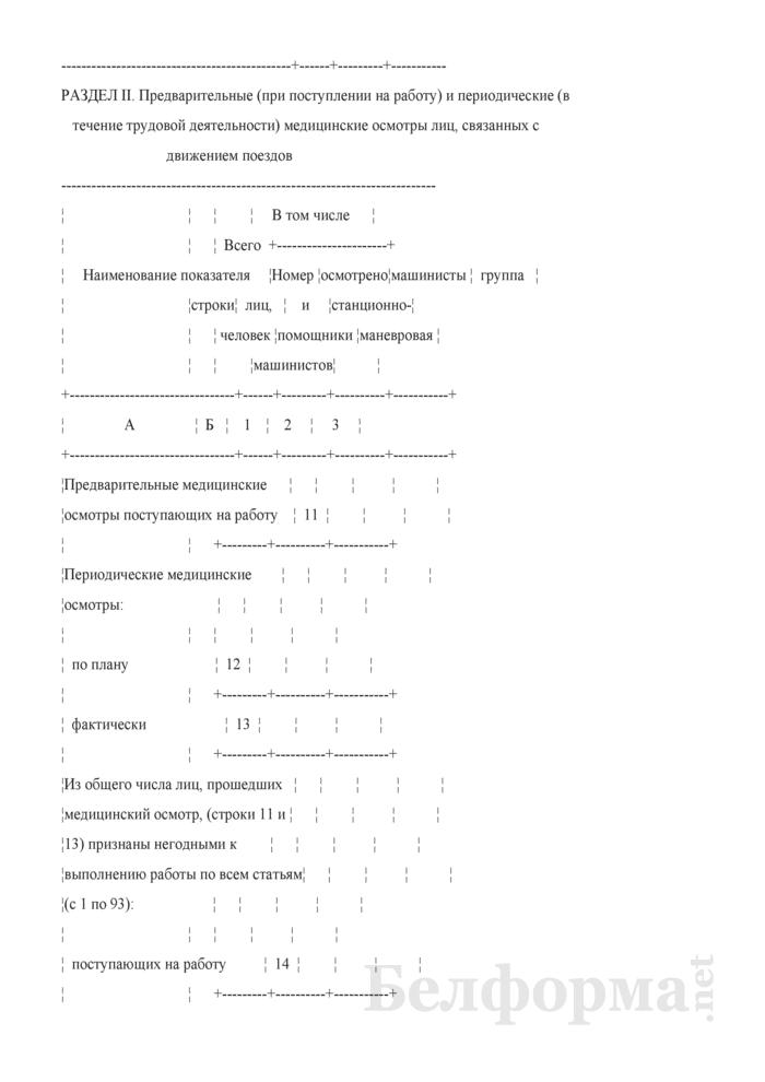 Отчет об обязательных предварительных, периодических осмотрах работников железнодорожного транспорта (Форма № НО-21 (годовая)). Страница 3