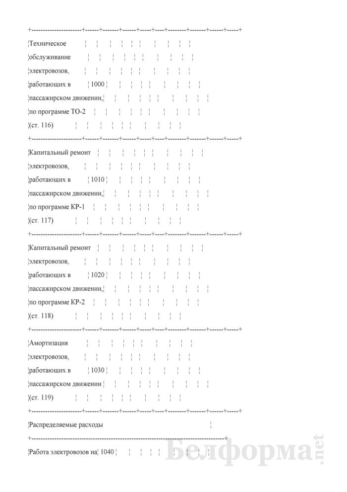 Отчет по основным показателям производственно-финансовой деятельности организаций Белорусской железной дороги (по видам деятельности) (Форма № 69-жел (квартальная)). Страница 17