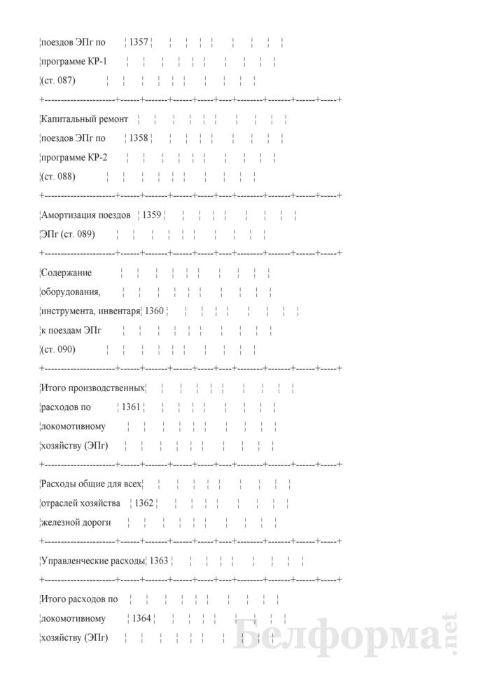 Отчет по основным показателям производственно-финансовой деятельности организаций Белорусской железной дороги (по видам деятельности) (Форма № 69-жел (квартальная)). Страница 24