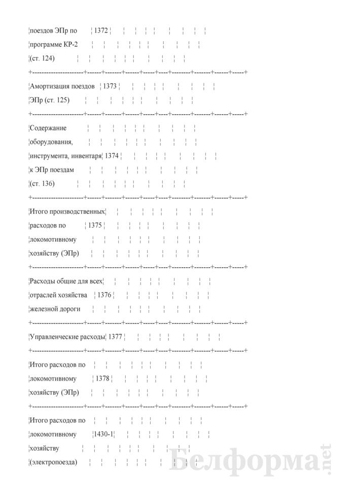 Отчет по основным показателям производственно-финансовой деятельности организаций Белорусской железной дороги (по видам деятельности) (Форма № 69-жел (квартальная)). Страница 26