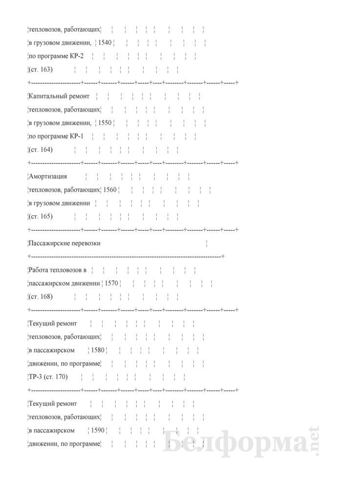 Отчет по основным показателям производственно-финансовой деятельности организаций Белорусской железной дороги (по видам деятельности) (Форма № 69-жел (квартальная)). Страница 29