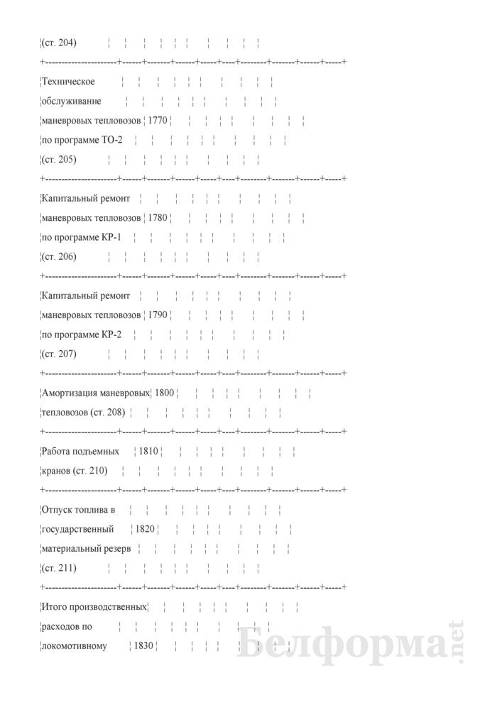 Отчет по основным показателям производственно-финансовой деятельности организаций Белорусской железной дороги (по видам деятельности) (Форма № 69-жел (квартальная)). Страница 33
