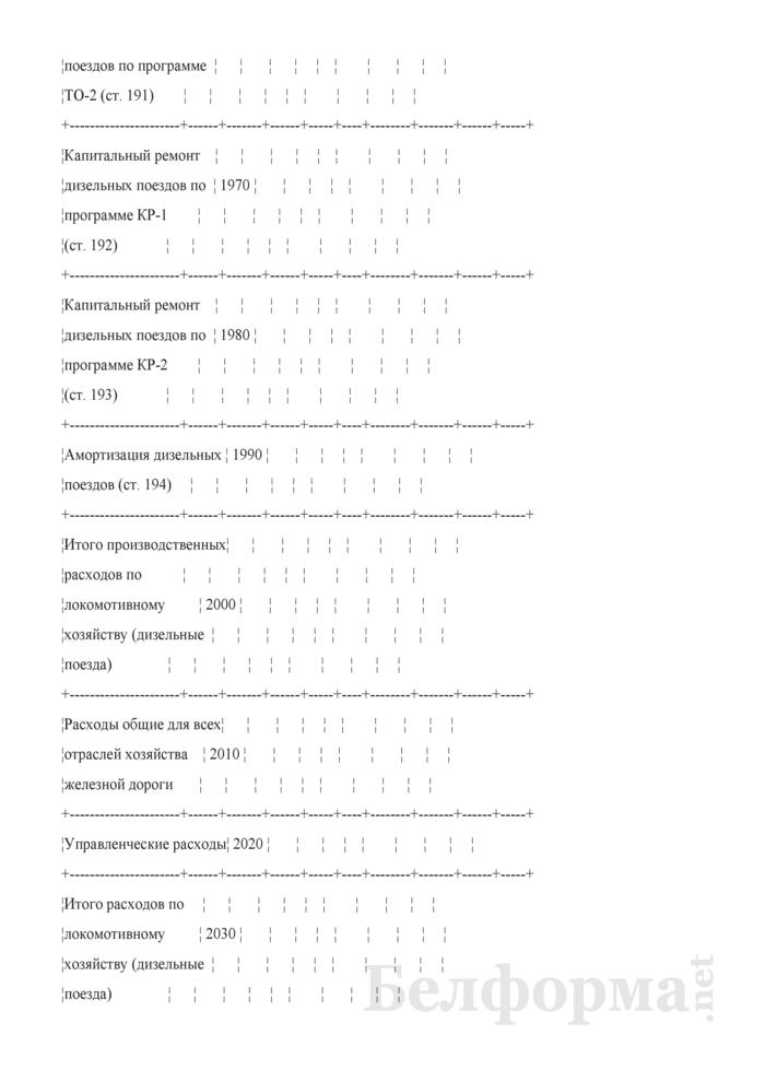 Отчет по основным показателям производственно-финансовой деятельности организаций Белорусской железной дороги (по видам деятельности) (Форма № 69-жел (квартальная)). Страница 36
