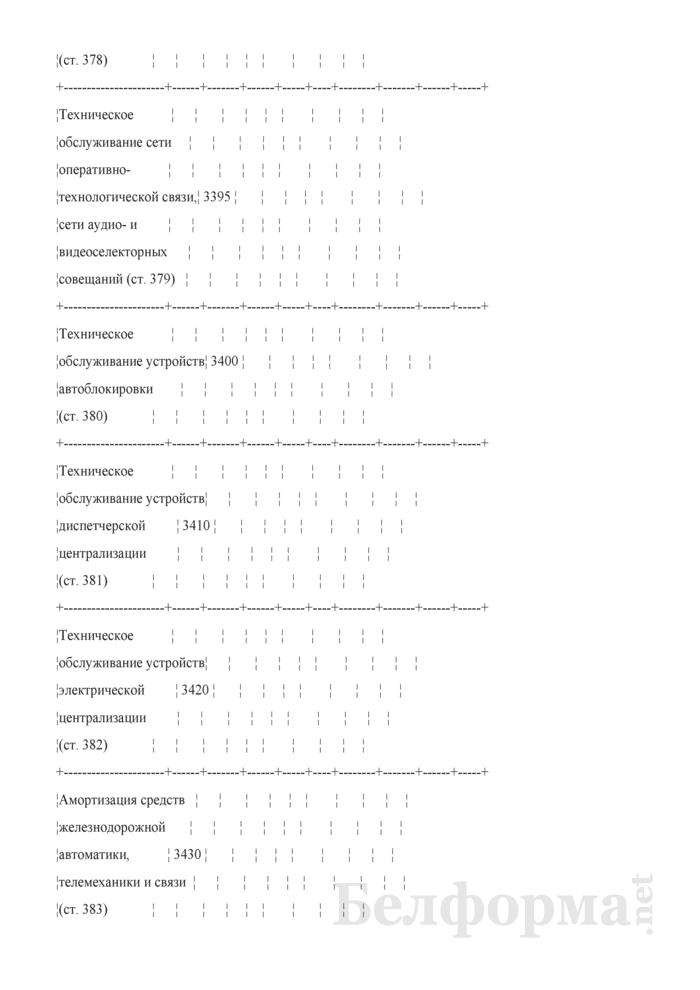 Отчет по основным показателям производственно-финансовой деятельности организаций Белорусской железной дороги (по видам деятельности) (Форма № 69-жел (квартальная)). Страница 55