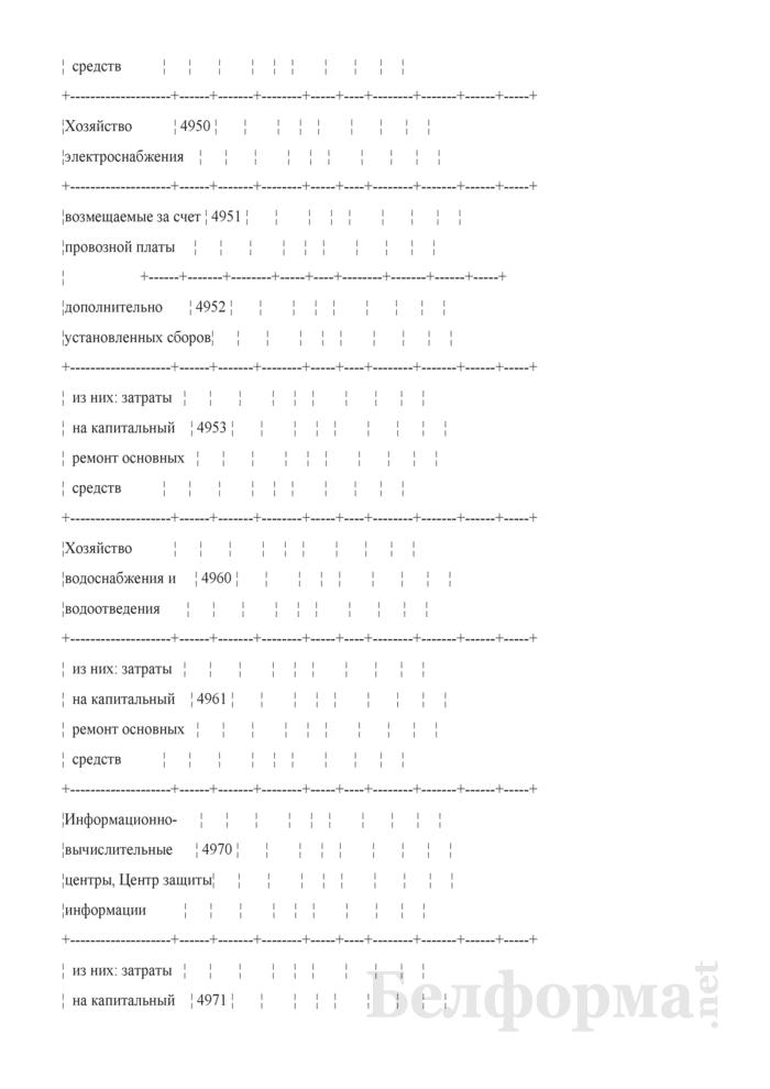 Отчет по основным показателям производственно-финансовой деятельности организаций Белорусской железной дороги (по видам деятельности) (Форма № 69-жел (квартальная)). Страница 82