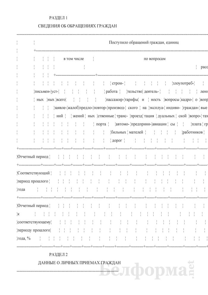 Сведения об обращениях граждан. Страница 2